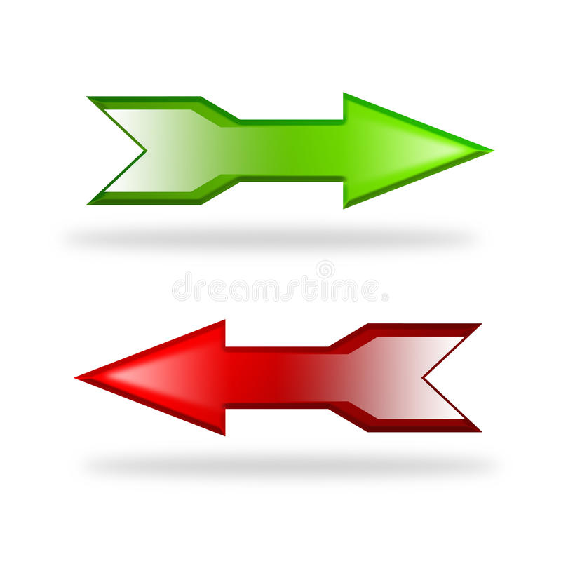 Download Directional arrows stock illustration. Illustration of shaped - 10661354