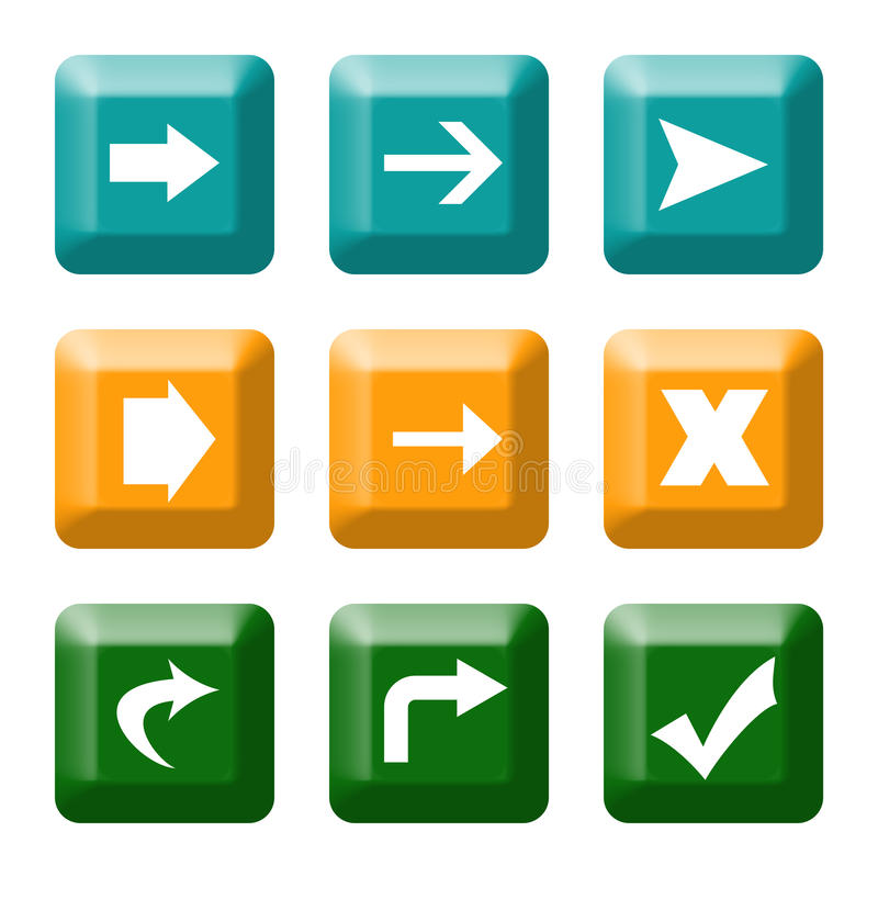 Free Directional Button Icons Stock Photo - 10544960