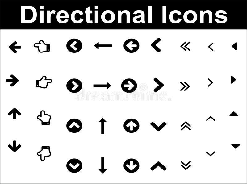 Download Directional icons set. stock vector. Illustration of link - 32151359