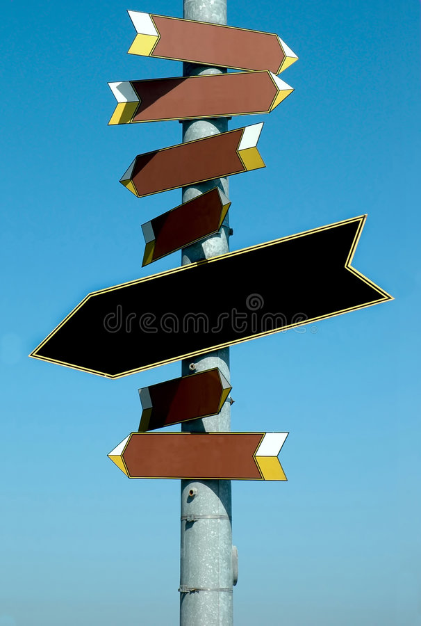 Directional sign royalty free stock photo