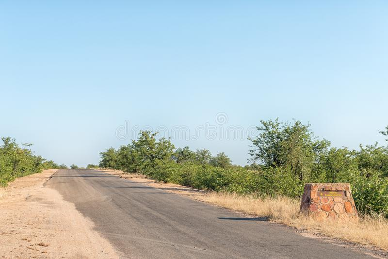 Directional sign on road H9 at Masorini Picnic Site royalty free stock photo