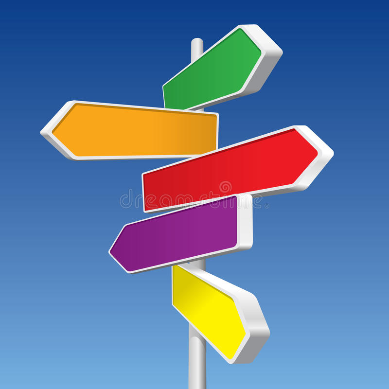 Directional Signs stock illustration
