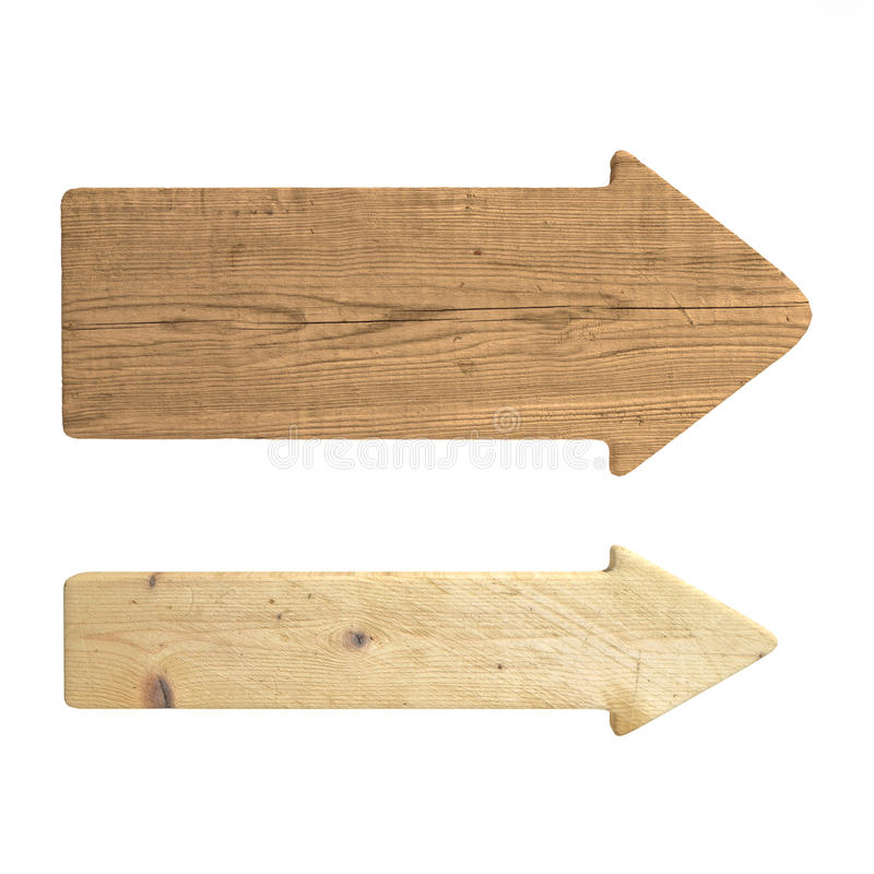 Directional wood signs stock image