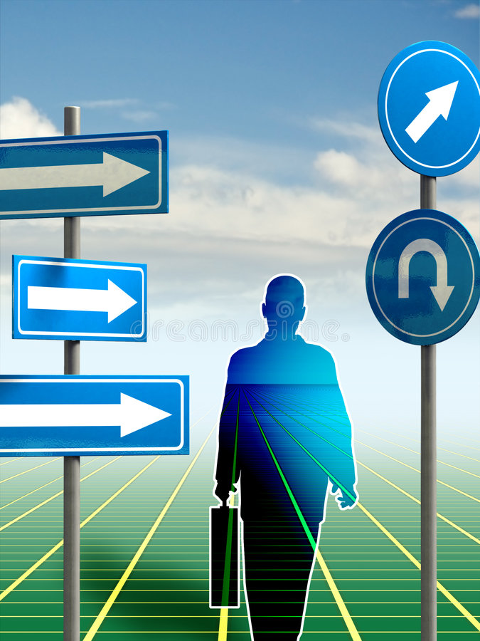 Download Directions stock illustration. Image of silhouette, career - 4919275