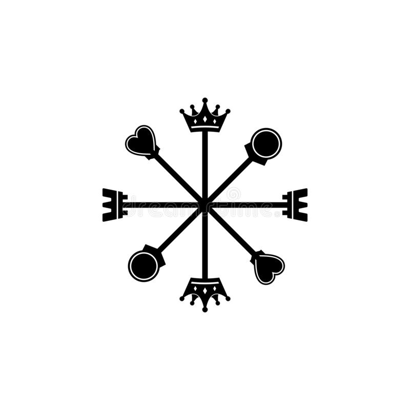 8 directions of chess compass logo. vector illustration