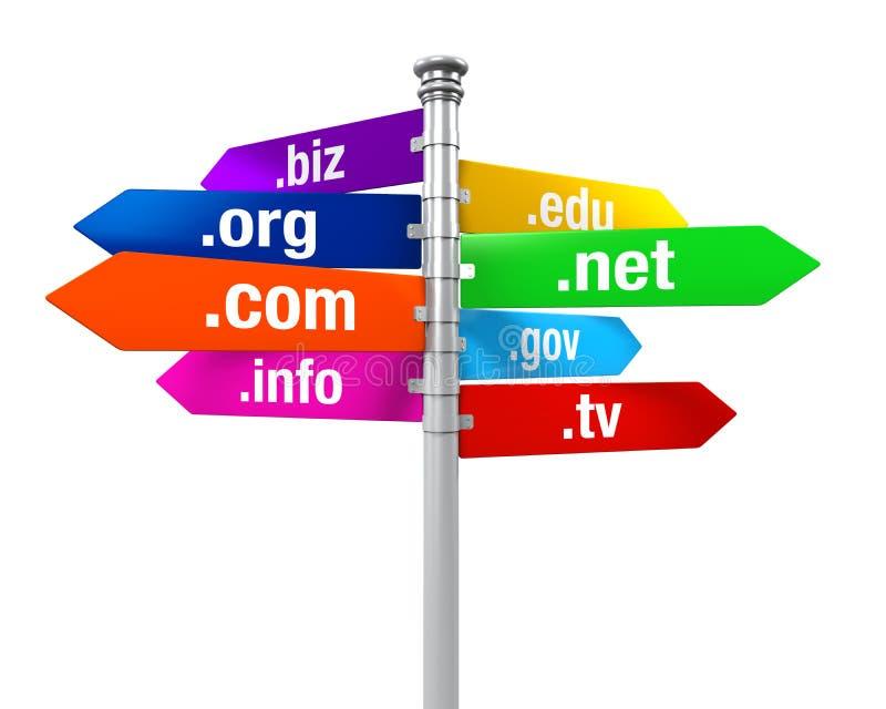 Directions de signe des Domain Name illustration libre de droits
