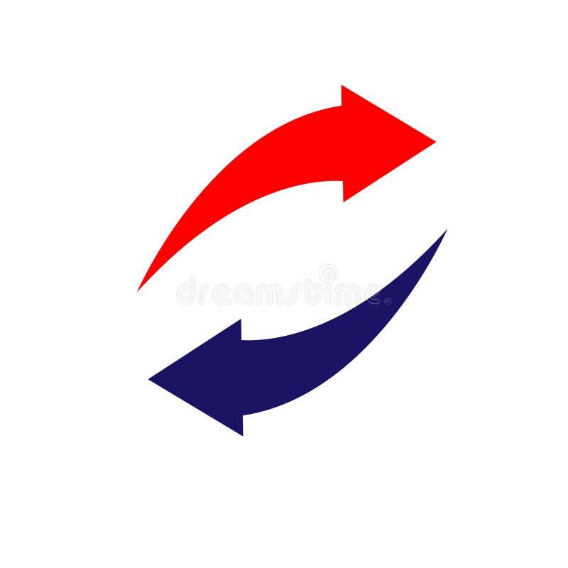 Directions gauches et droites de flèches bi-directionnelles vis-à-vis de Illust de vecteur illustration stock