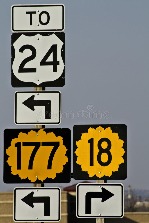 Download Directions Kansas Royalty Free Stock Photos - Image: 13308218