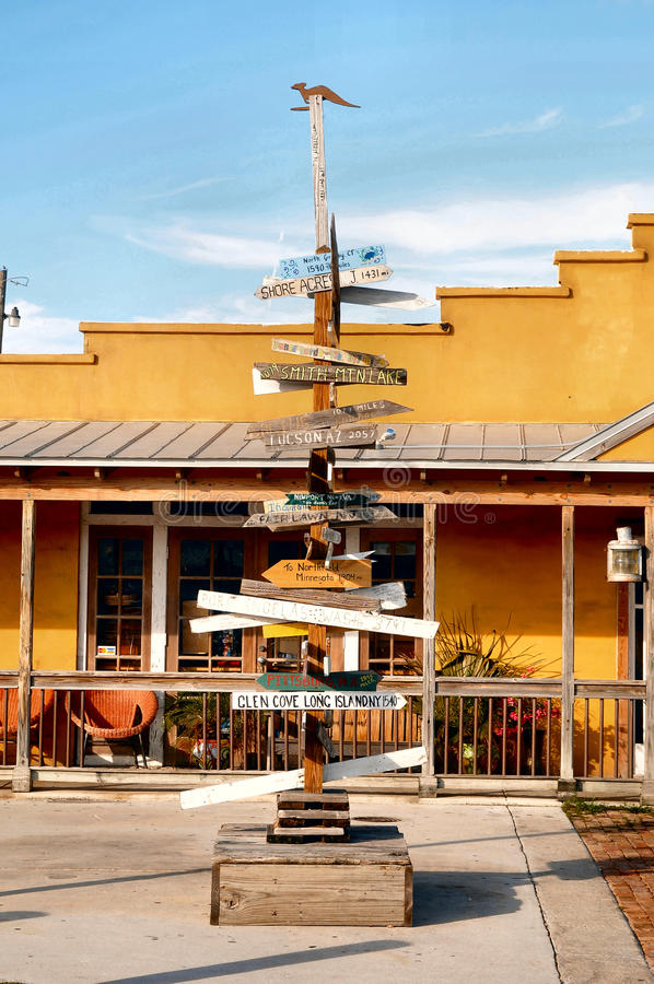Directions in Key west florida stock photography