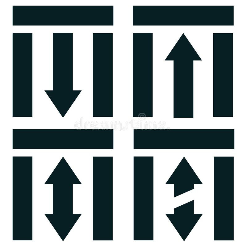 directions to enter or leave public transport vector illustration