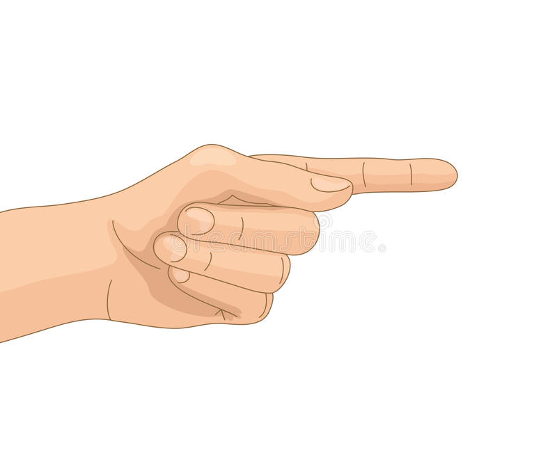 Directive gesture. Hand with directive gesture, on white background royalty free illustration