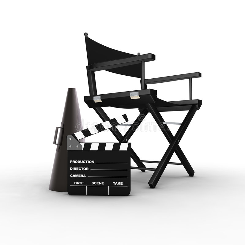 Director's chair royalty free illustration