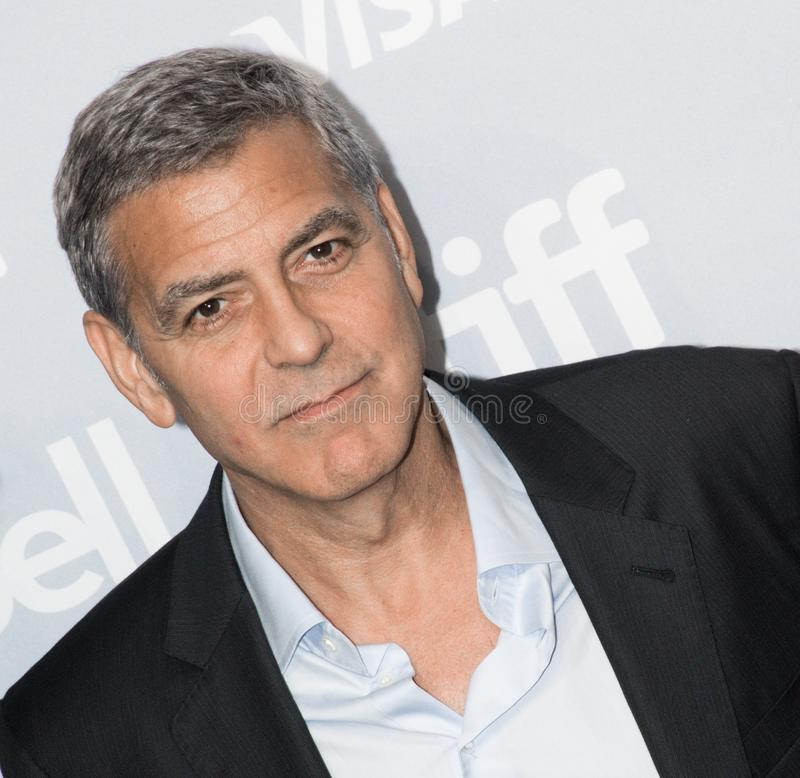 George Clooney at press conference for `Suburbian` at Toronto International Film festival 2017. Director and actor George Clooney at press conference for ` stock photo