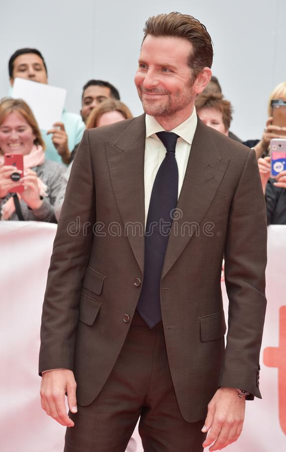Bradley Cooper on the red carpet for `A Star Is Born` premiere during TIFF2018. Director Bradley Cooper on the red carpet for `A Star Is Born` premiere during royalty free stock photos