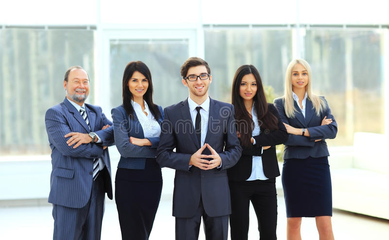 Director and business team royalty free stock photo
