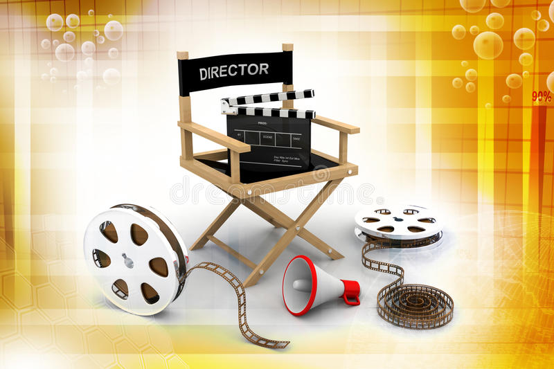Director chair royalty free illustration