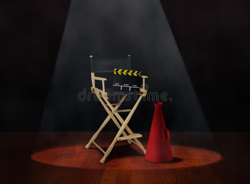 Director Chair con la chapaleta y el megáfono libre illustration