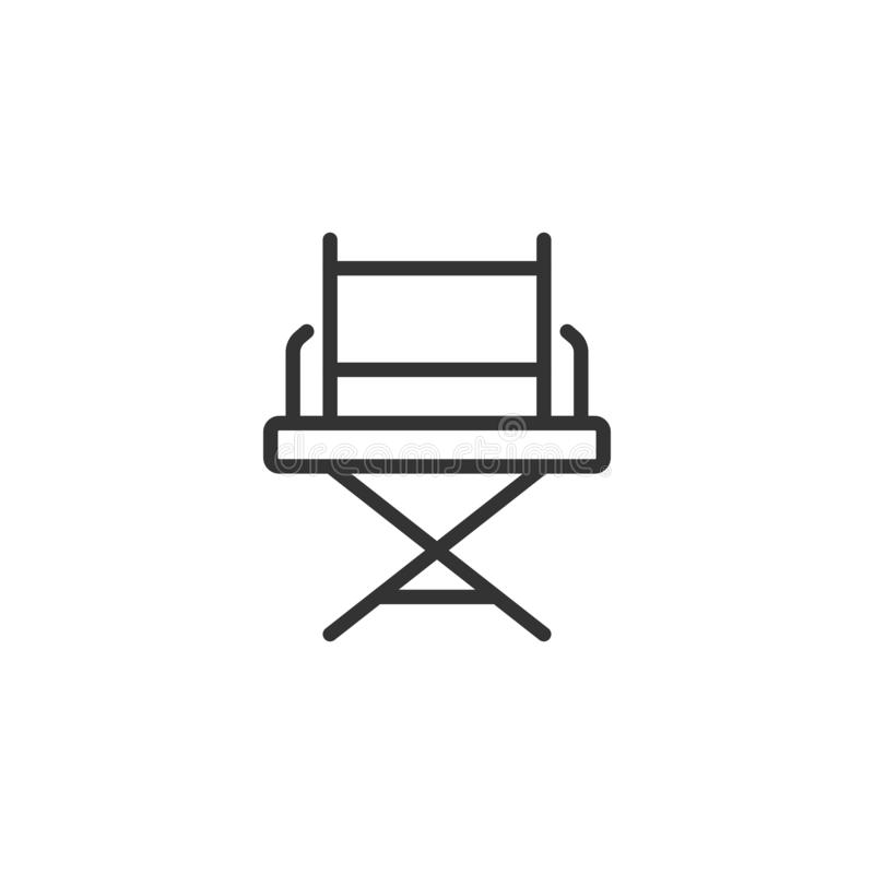 Free Director Chair Icon In Flat Style. Producer Seat Vector Illustration On White Isolated Background. Movie Business Concept Stock Photography - 167381792