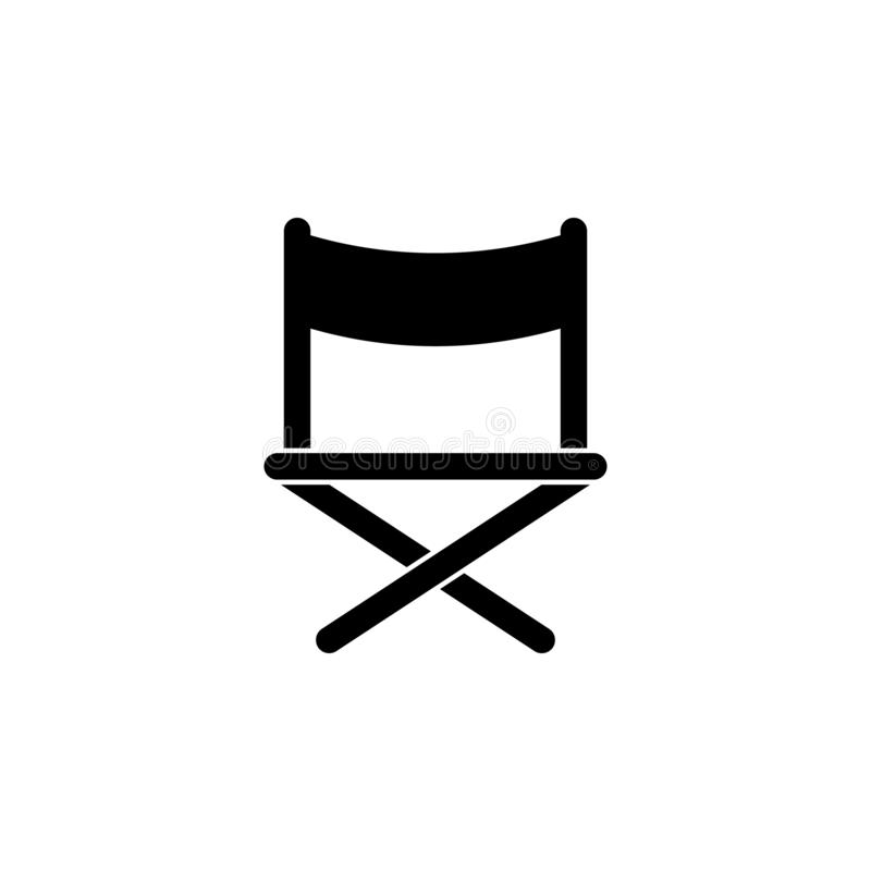 Director chair icon. Simple glyph vector of cinema for UI and UX, website or mobile application. On white background vector illustration
