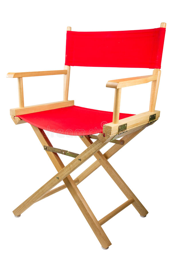 Director chair. Isolated on white background stock images