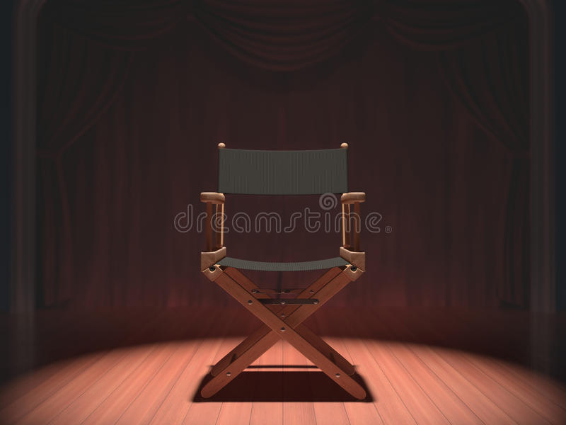 Download Director Chair stock illustration. Illustration of cinematographic - 36257011