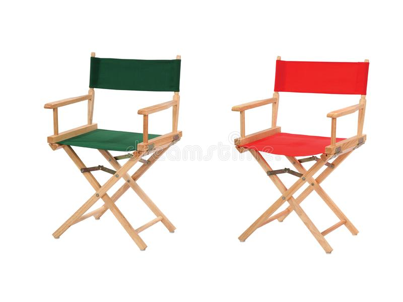 Director chairs isolated stock photos