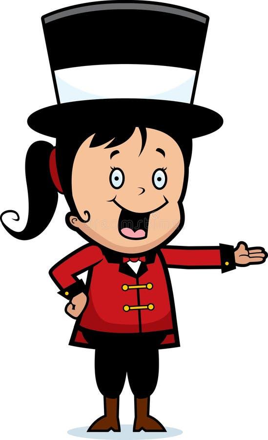 Director de pista de circo del niño stock de ilustración