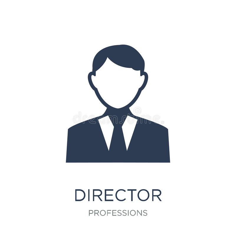 Director icon. Trendy flat vector Director icon on white background from Professions collection vector illustration