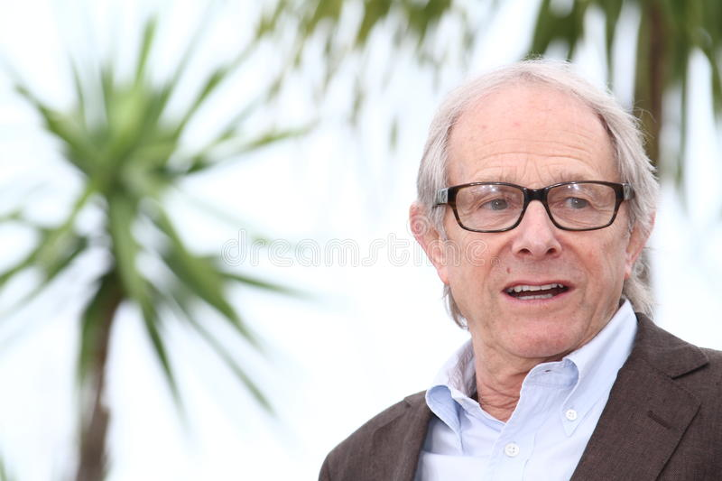 Director Ken Loach. CANNES, FRANCE - MAY 22: Director Ken Loach poses at the 'The Angels' Share' photocall during the 65th Annual Cannes Film Festival at Palais stock photography