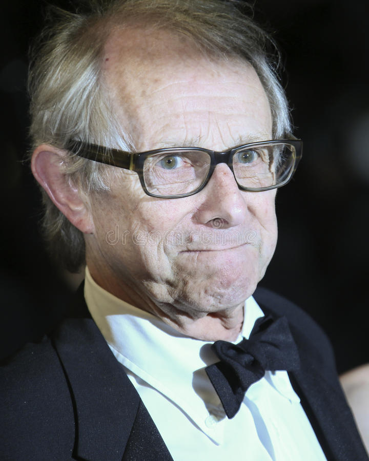 Director Ken Loach. Attends the `I, Daniel Black Moi, Daniel Black` premiere during the 69th annual Cannes Film Festival at the Palais des Festivals on May 13 stock image
