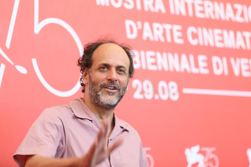 Director Luca Guadagnino attends `Suspiria`. Photocall during the 75th Venice Film Festival at Sala Casino on September 1, 2018 in Venice, Italy stock photo
