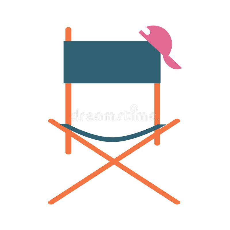 Director movie chair icon royalty free illustration