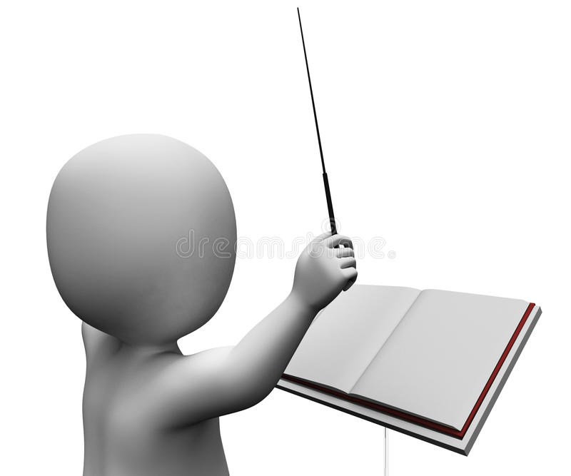 Director musical Direct de la orquesta de Baton Shows Musician del conductor libre illustration