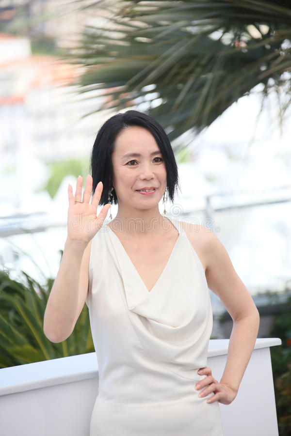 Director Naomi Kawase. Attends the `Hikari Radiance` photocall during the 70th annual Cannes Film Festival at Palais des Festivals on May 23, 2017 in Cannes stock images