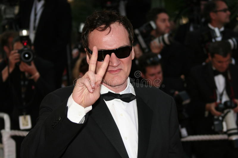 Director Quentin Tarantino. CANNES, FRANCE - MAY 20: Director Quentin Tarantino attends the Inglourious Basterds Premiere held at the Palais during the 62nd royalty free stock photo