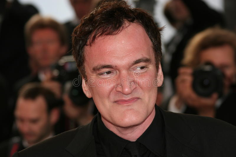 Director Quentin Tarantino. CANNES, FRANCE - MAY 20: Director Quentin Tarantino attends the Inglourious Basterds Premiere held at the Palais during the 62nd stock image
