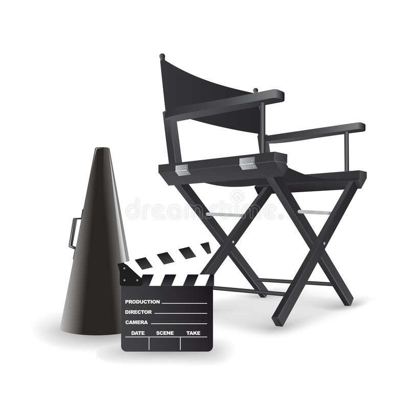 Director's chair. royalty free illustration