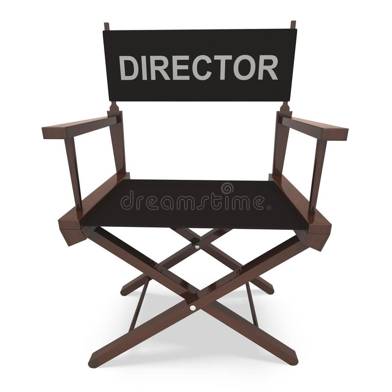 Free Director S Chair Shows Movie Producer Or Filmmaker Royalty Free Stock Image - 34213796