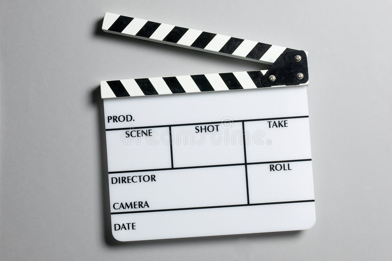 Director's slate board royalty free stock photography