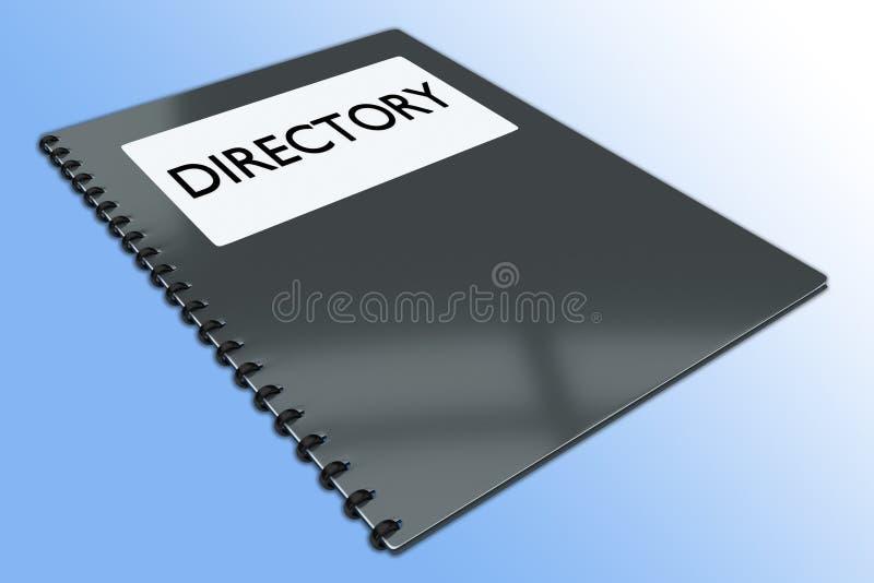 DIRECTORIO - concepto informativo stock de ilustración