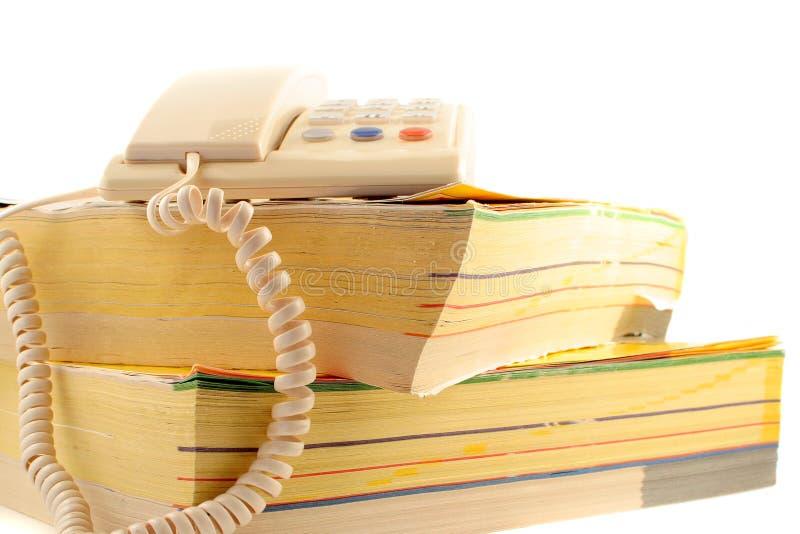 Directorios del teléfono imagen de archivo libre de regalías