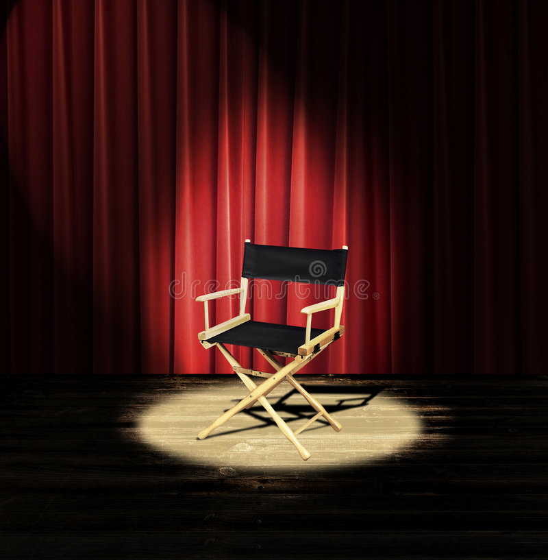 Directors chair royalty free stock photography