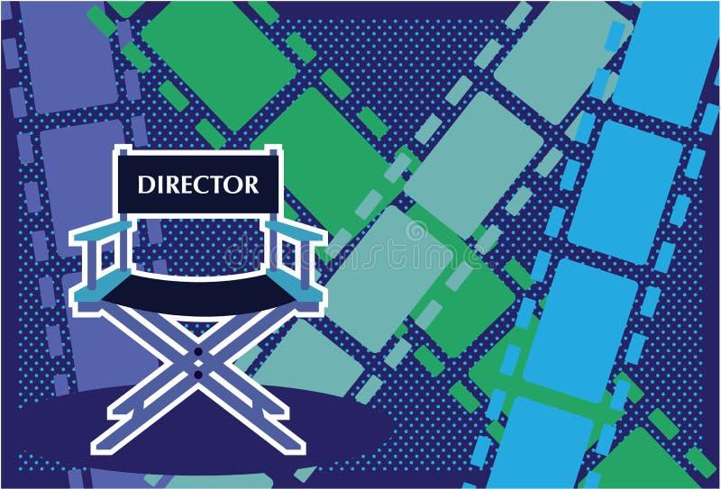 Directors chair Film vector. Illustration clip-art eps stock illustration