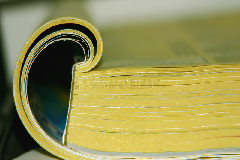 The Directory. A directory - a well-known yellow guide royalty free stock photos