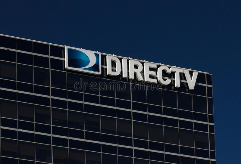DirecTV Corporate Headquarters and Sign. EL SEGUNDO, CA/USA - MARCH 7, 2015: DirecTV corporate headquarters building. DirecTV is an American direct broadcast stock photo