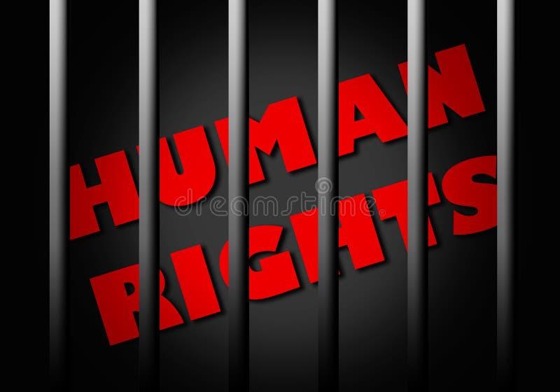 Direitas humanas ilustração royalty free