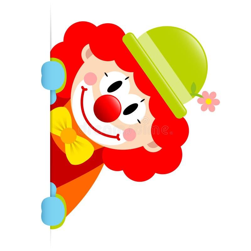 Direito da bandeira de Red Hair Vertical do palhaço ilustração royalty free