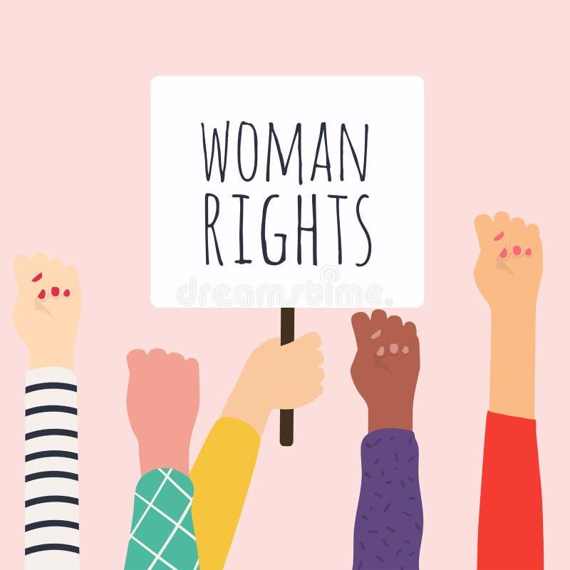 Direito da mulher E Ilustra??o do vetor ilustração stock