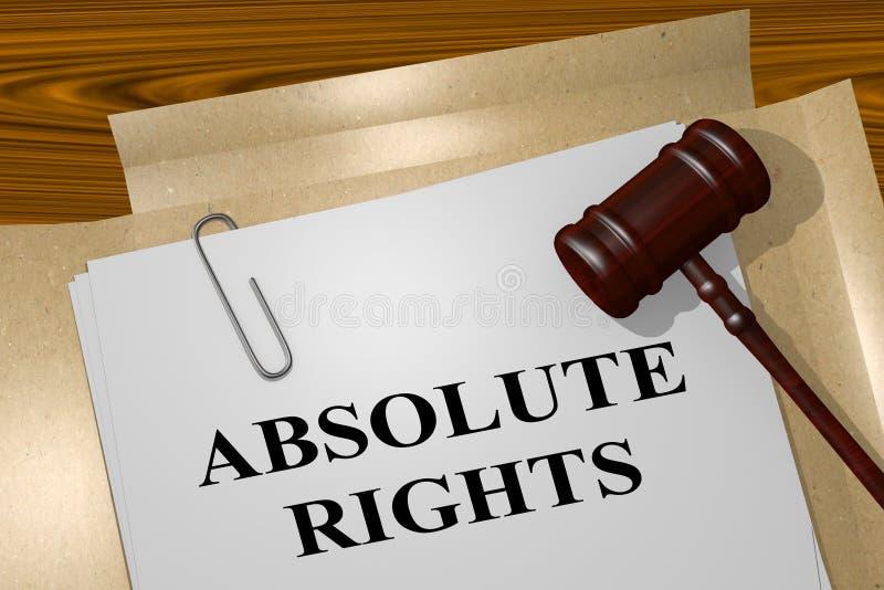 Direitos absolutos - conceito legal ilustração do vetor