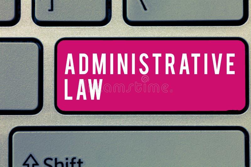 Direitos administrativos do texto da escrita da palavra Conceito do negócio para o corpo das ordens dos regulamentos das regras c imagem de stock